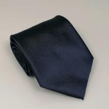 Mélykék széles nyakkendő