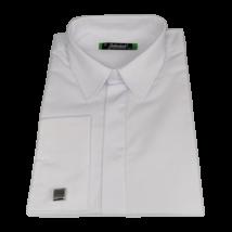 Mandzsettagombos fehér ing