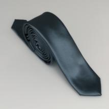 Szürke keskeny szatén nyakkendő