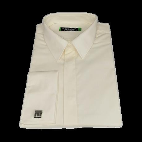 Mandzsettagombos ekrü színű ing