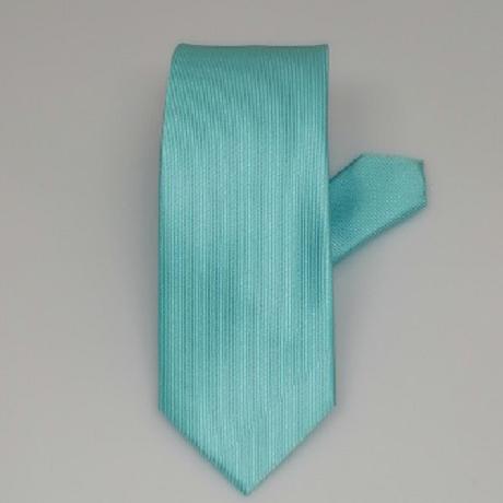 Világos türkizkék keskeny nyakkendő